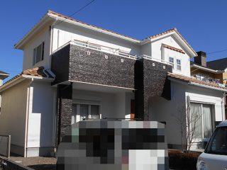 多治見市W様邸 外壁塗装工事 施工後 外観画像