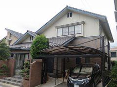 刈谷市S様邸 外壁塗り替え工事 施工前 全景写真