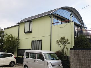 名古屋市S様邸 外壁塗装工事 施工後 外観画像