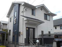 名古屋市M様邸 外壁屋根塗り替え工事 施工前 全景写真