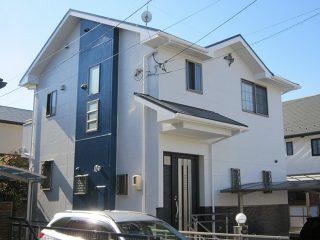 名古屋市M様邸 外壁屋根塗装工事 施工後 外観画像