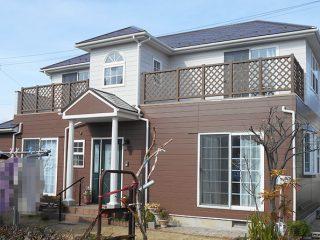 稲沢市H様邸 外壁屋根塗装工事 施工後 外観画像
