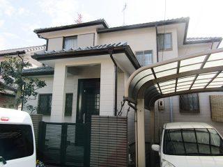 春日井市I様邸 外壁塗装工事 施工後 外観画像