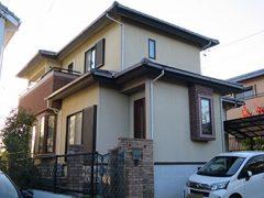 春日井市N様邸 外壁塗り替え工事 施工前 全景写真