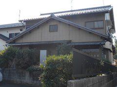 稲沢市S様邸 外壁塗り替え工事 施工前 全景写真
