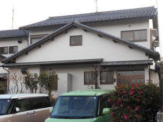 稲沢市S様邸 外壁塗装工事 施工後 外観画像