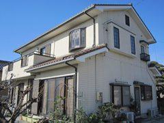 高浜市F様 外壁塗り替え工事 施工前 全景写真