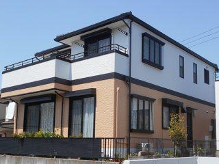 名古屋市M様 外壁塗装工事 施工後 外観画像