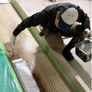 立体駐車場のパレット錆び補修・ミラクルプライマー2回目塗布