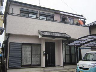 稲沢市I様 外壁塗り替え工事 施工後 全景写真