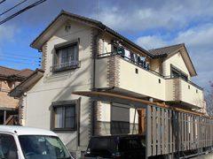 春日井市K様 外壁塗装工事 施工前 外観画像