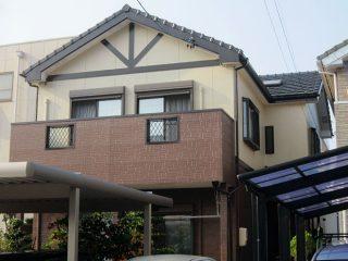 岡崎市S様 外壁塗り替え工事 施工後 全景写真