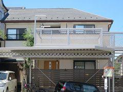 瀬戸市K様 外壁屋根塗装工事 施工前 外観画像