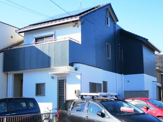 春日井市S様 外壁塗り替え工事 施工後 全景写真