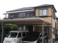 春日井市I様 外壁屋根塗装工事 施工前 外観画像