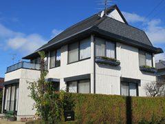 一宮市S様 外壁屋根塗装工事 施工前 外観画像