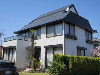 一宮市S様 外壁屋根塗り替え工事 施工後 全景写真