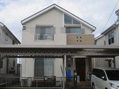 春日井市O様 外壁屋根塗装工事 施工前 外観画像