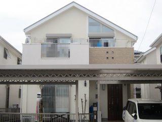 春日井市O様 外壁屋根塗り替え工事 施工後 全景写真