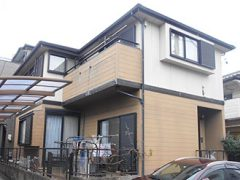 春日井市M様 外壁屋根塗装工事 施工前 外観画像