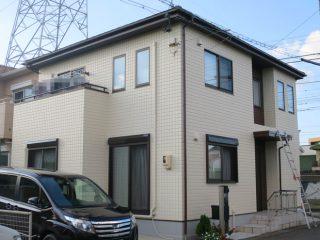 春日井市S様 外壁屋根塗り替え工事 施工前 全景画像