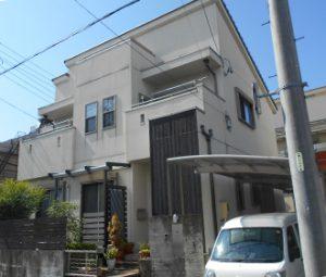 名古屋市O様 外壁塗り替え工事 施工前 全景画像