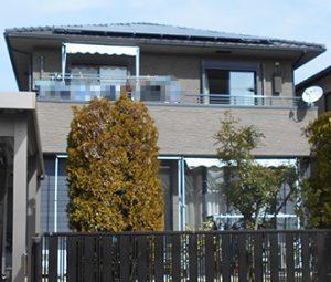 春日井市D様 外壁屋根塗り替え工事 施工前 全景画像