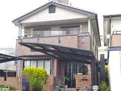 清須市Y様 外壁塗り替え工事 施工前 全景画像