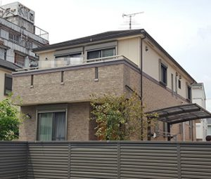 名古屋市S様 外壁屋根塗り替え工事 施工前 全景画像