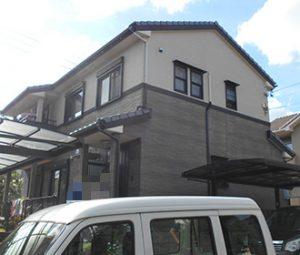 春日井市K様 外壁塗り替え工事 施工前 全景画像
