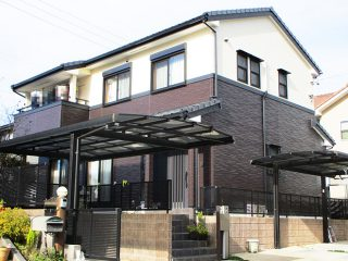 春日井市K様 外壁塗装工事 施工後 外観画像