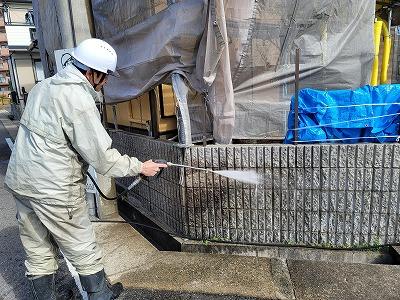 外壁塗装_麻布_春日井市Y様邸_高圧洗浄1