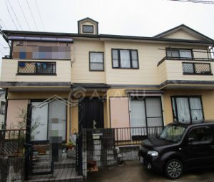 春日井市Y様 外壁屋根塗り替え工事 施工前 全景画像